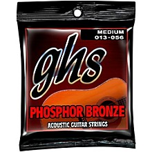 GHS Phosphor Bronze Light Acoustic Guitar Strings (13-56)