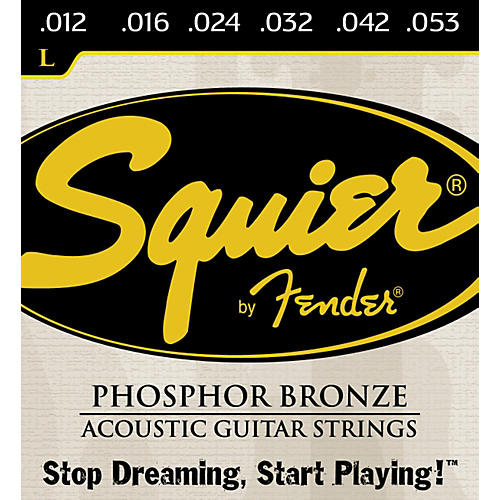 Squier Phosphor Bronze Light Acoustic Guitar Strings