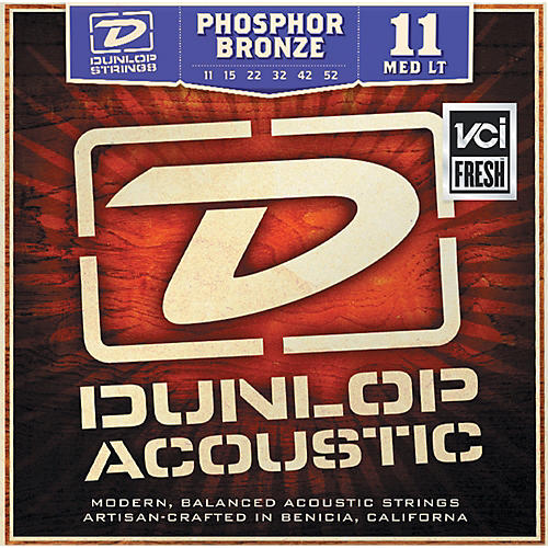 Dunlop Phosphor Bronze Medium Light Acoustic Guitar Strings