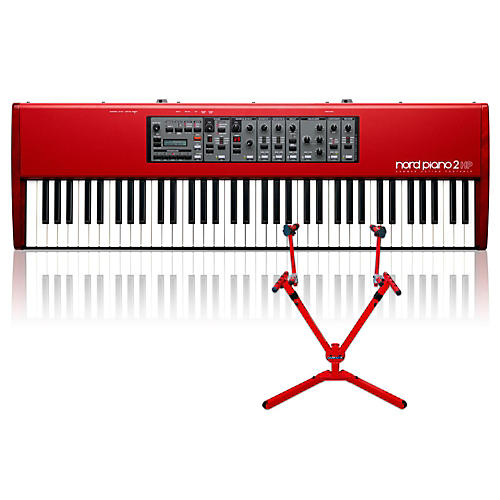 nord piano 2 hp73 with matching 2 tier keyboard stand musician 39 s friend. Black Bedroom Furniture Sets. Home Design Ideas