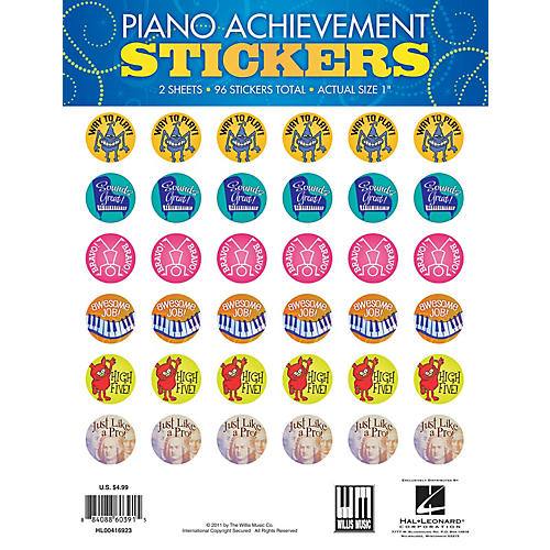 Willis Music Piano Achievement Stickers (Pack of 96 Stickers) Willis Series