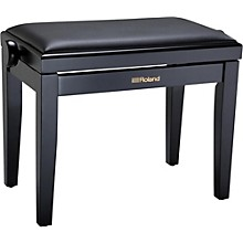 Piano Bench with Velour Seat Satin Black