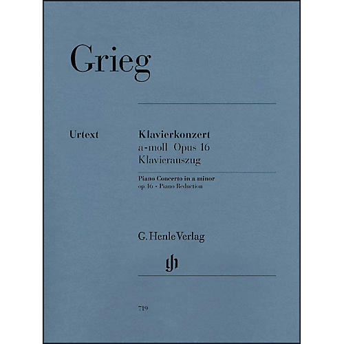 G. Henle Verlag Piano Concerto A minor Op. 16 By Grieg