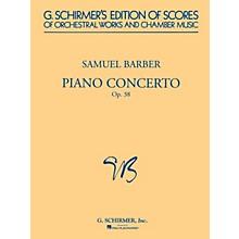 G. Schirmer Piano Concerto, Op. 38 (Study Score) Study Score Series Composed by Samuel Barber