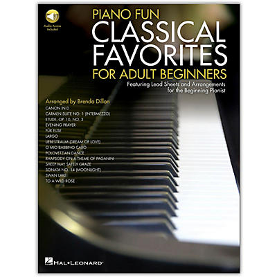 Hal Leonard Piano Fun - Classical Favorites for Adult Beginners Book/Audio Online