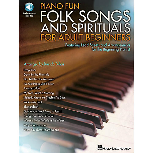 Hal Leonard Piano Fun - Folk Songs and Spirituals for Adult Beginners Educational Piano Library Book Audio Online