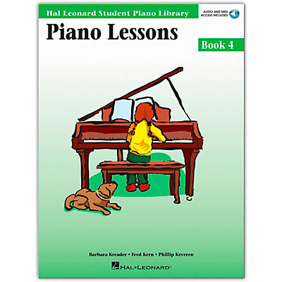 Hal Leonard Piano Lessons Book/Online Audio 4 Package Hal Leonard Student Piano Library Book/Online Audio
