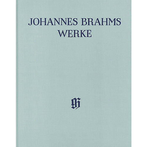 G. Henle Verlag Piano Pieces Henle Complete Edition Series Hardcover Composed by Johannes Brahms Edited by Katrin Eich