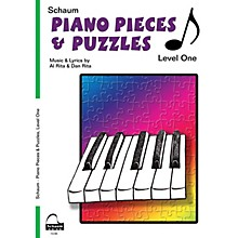 SCHAUM Piano Pieces & Puzzles (Level 1 Elem Level) Educational Piano Book by Al Rita