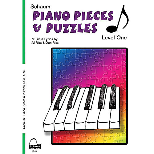 SCHAUM Piano Pieces & Puzzles (Level 1 Elem Level) Educational Piano Book by Al Rita