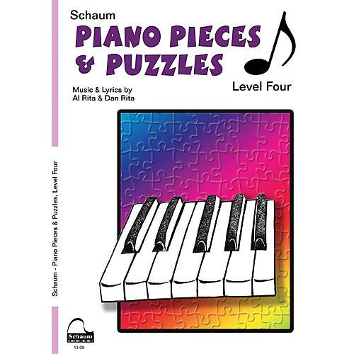SCHAUM Piano Pieces & Puzzles (Level 4 Inter Level) Educational Piano Book by Al Rita