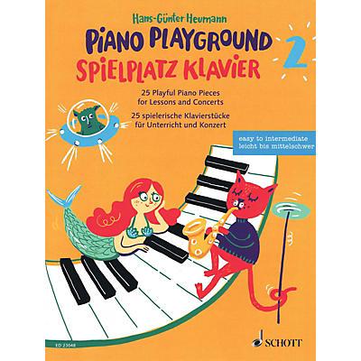 Schott Piano Playground Book 2 (Spielplatz Klavier 2) 25 Playful Piano Pieces for Lessons and Concerts by Hans-Gunter Heumann