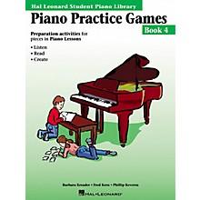 Hal Leonard Piano Practice Games Book 4 Piano Library Series Book by Barbara Kreader
