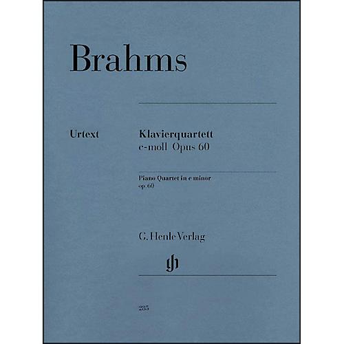 G. Henle Verlag Piano Quartet C Minor Op. 60 By Brahms