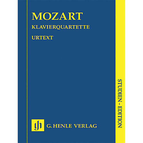 G. Henle Verlag Piano Quartets (Study Score) Henle Study Scores Series Softcover Composed by Wolfgang Amadeus Mozart