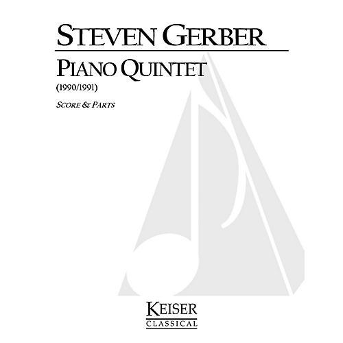 Lauren Keiser Music Publishing Piano Quintet LKM Music Series Composed by Steven Gerber