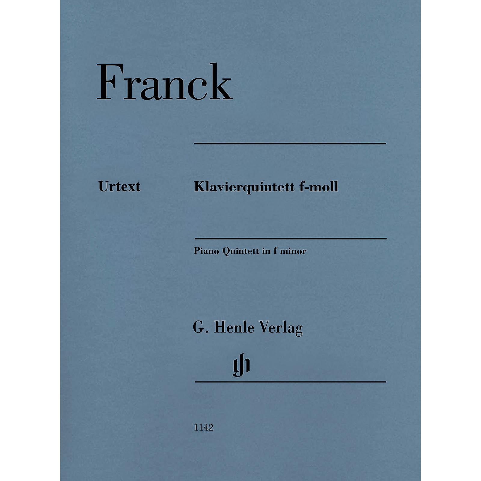 G. Henle Verlag Piano Quintet in F minor by Cesar Franck