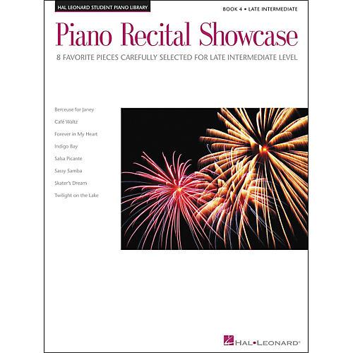 Hal Leonard Piano Recital Showcase Book 4 Late Intermediate Level Hal Leonard Student Piano Library