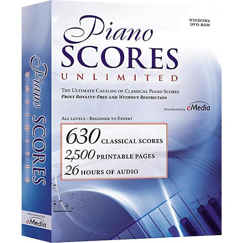 eMedia Piano Scores Unlimited Software DVD
