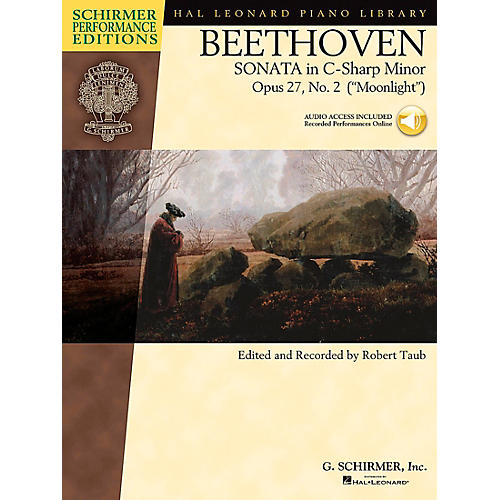 G. Schirmer Piano Sonata In C Sharp Minor Opus 27 No 2 Book/CD (Moonlight) By Beethoven / Taub