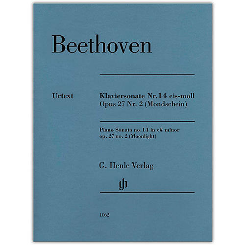 G. Henle Verlag Piano Sonata No 14 in C-sharp min Op 27 No 2 (Moonlight) Henle Music by Beethoven Edited by Gertsch