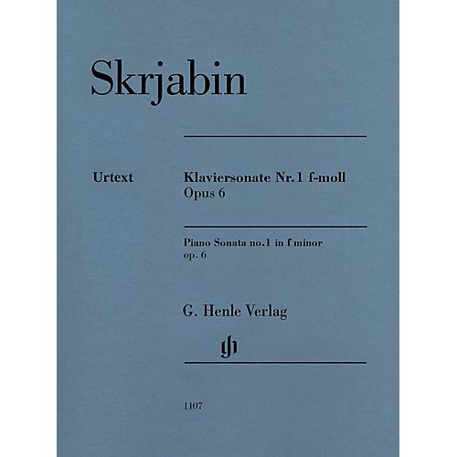 G. Henle Verlag Piano Sonata No. 1 in F minor, Op. 6 Henle Music Softcover by Scriabin Edited by Valentina Rubcova