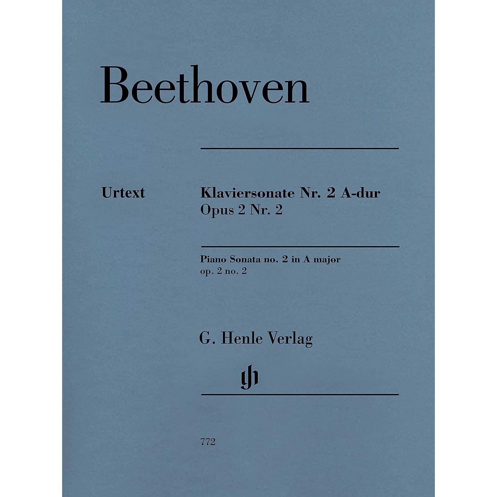 G. Henle Verlag Piano Sonata No. 2 In A Major, Op. 2, No. 2 by Ludwig van Beethoven
