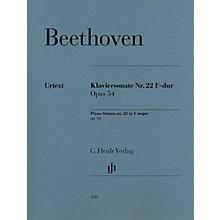 G. Henle Verlag Piano Sonata No. 22 in F Major, Op. 54 Henle Music Folios Series Softcover (Advanced)