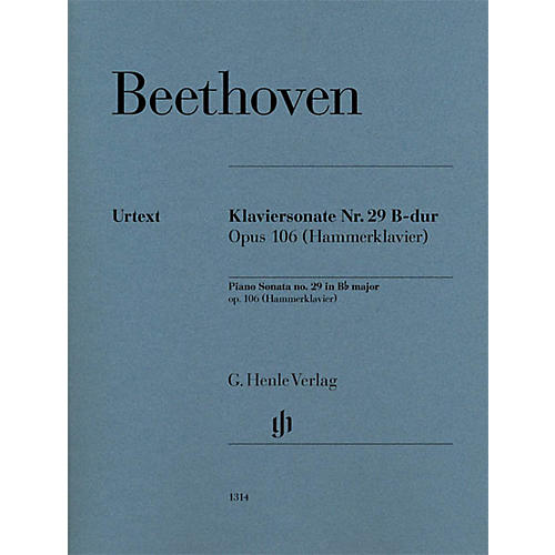 G. Henle Verlag Piano Sonata No. 29 in B-flat Major, Op. 106 (Hammerklavier) Henle Music Folios Series Softcover