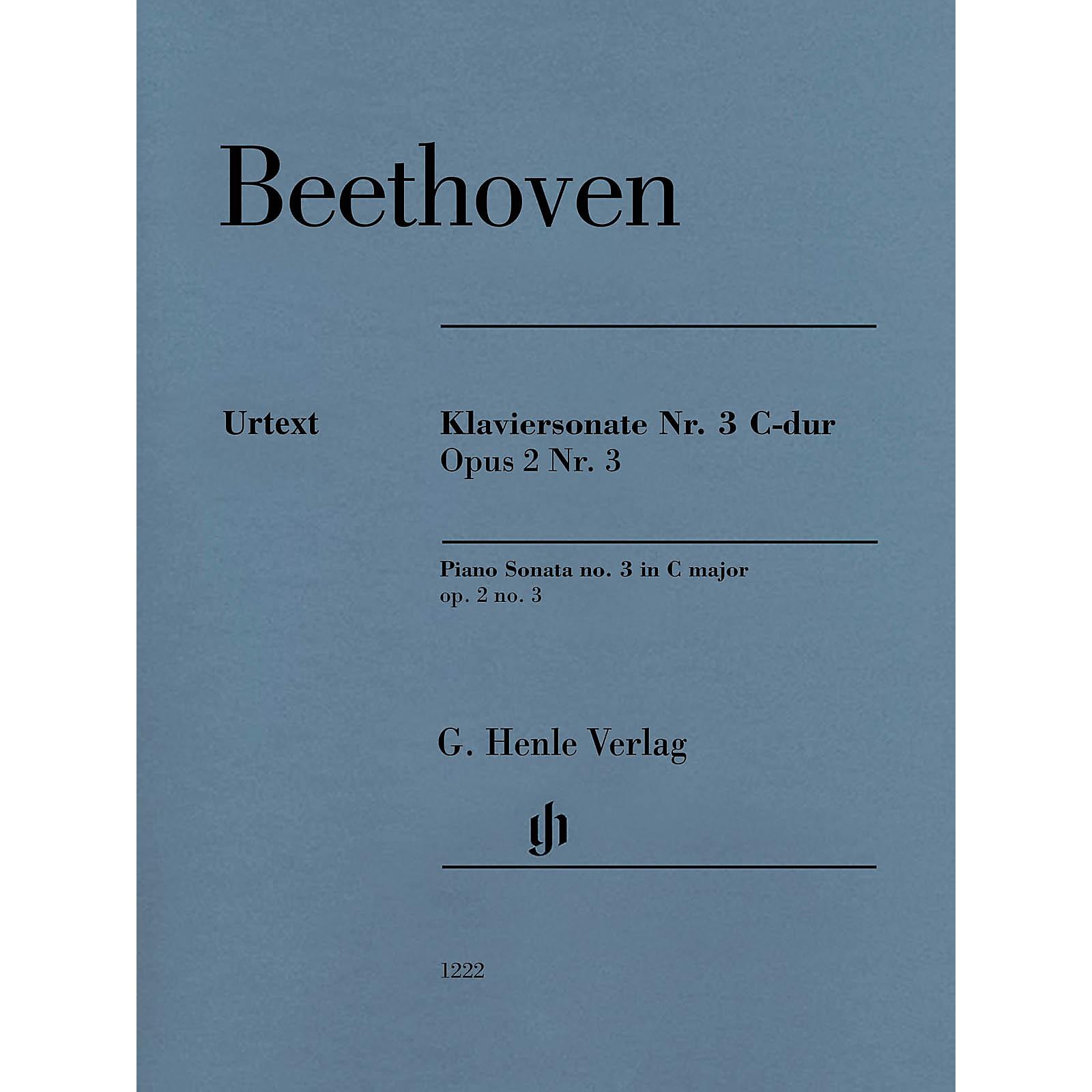 G. Henle Verlag Piano Sonata No. 3 C Major (Op. 2 No.3) for Piano Solo - Henle Music