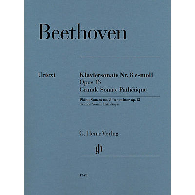 G. Henle Verlag Piano Sonata No. 8 in C Minor, Op. 13 (Grande Sonata Pathétique) by Beethoven