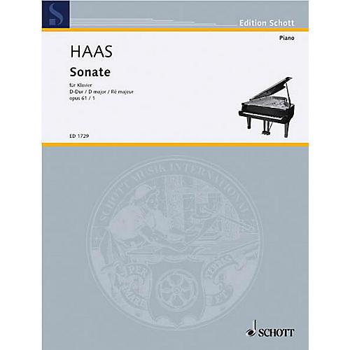 Schott Piano Sonata Op. 61, No. 1 Schott Series