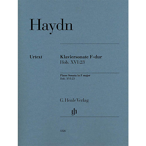 G. Henle Verlag Piano Sonata in F Major, Hob. XVI:23 Henle Music Folios Series Softcover (Advanced)
