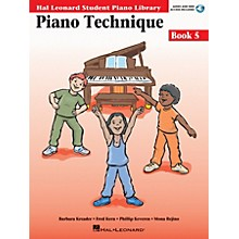 Hal Leonard Piano Technique Book 5 - Book/Enhanced CD Pack Educational Piano Library Book with CD by Various Authors