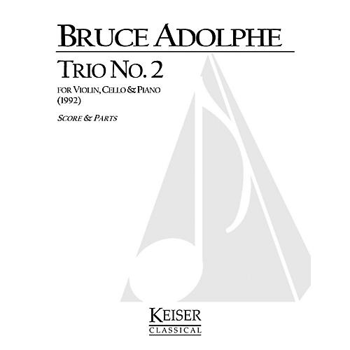 Lauren Keiser Music Publishing Piano Trio No. 2 (Piano, Violin, Cello) LKM Music Series Composed by Bruce Adolphe