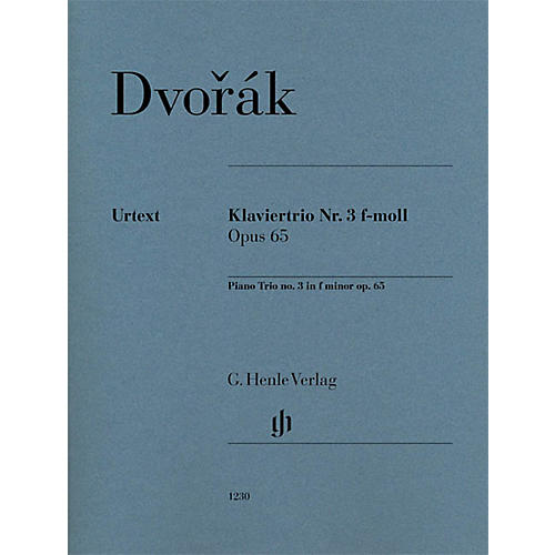 G. Henle Verlag Piano Trio No. 3 in F minor, Op. 65 Henle Music Folios Series Softcover Composed by Antonín Dvorák