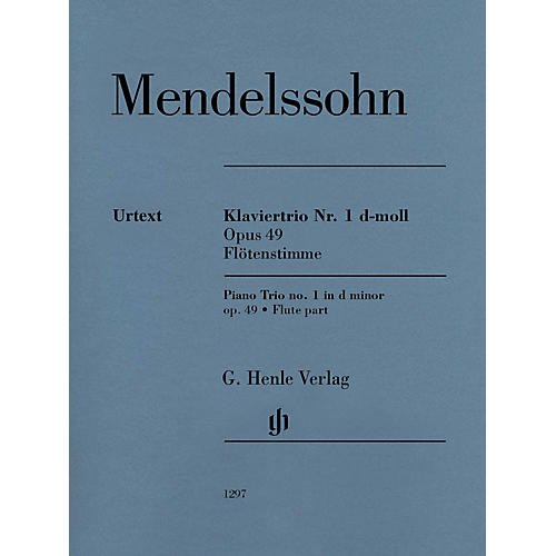 G. Henle Verlag Piano Trio Op. 49 (Additional Flute Part) Henle Music Folios Series Softcover by Felix Mendelssohn