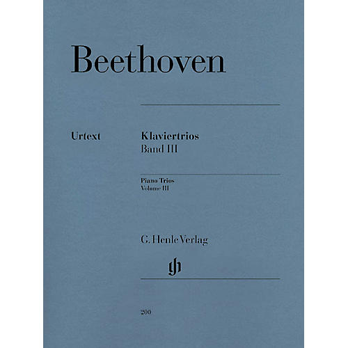 G. Henle Verlag Piano Trios - Volume III Henle Music Folios Series Softcover Composed by Ludwig van Beethoven