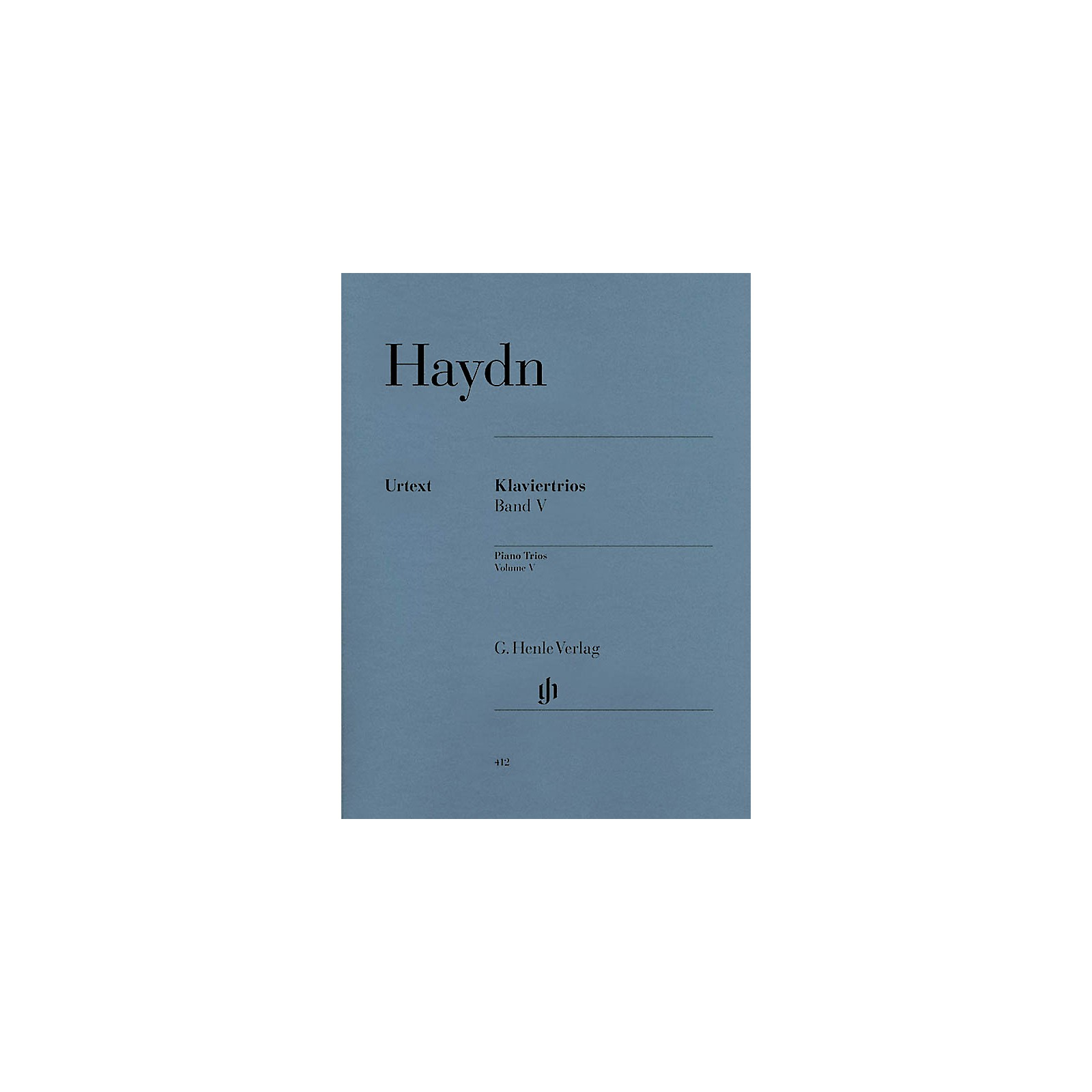 G. Henle Verlag Piano Trios - Volume V (for piano, violin, and cello) Henle Music Folios Series Softcover by Joseph Haydn
