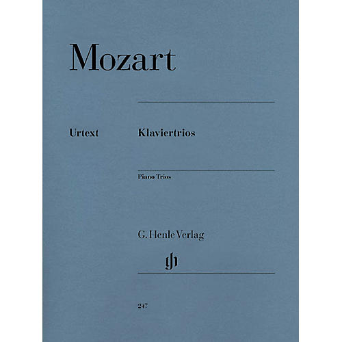 G. Henle Verlag Piano Trios Henle Music Folios Series Softcover Composed by Wolfgang Amadeus Mozart