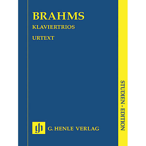 G. Henle Verlag Piano Trios (Study Score) Henle Study Scores Series Softcover Composed by Johannes Brahms