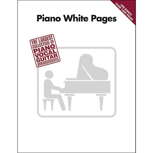 Hal Leonard Piano White Pages Piano, Vocal, Guitar Songbook