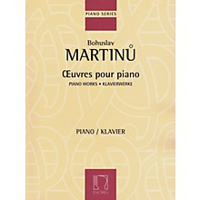 Max Eschig Piano Works Editions Durand Series Softcover Composed by Bohuslav Martinu