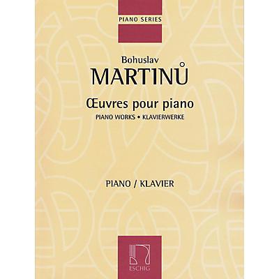 Max Eschig Piano Works Editions Durand Series Softcover Composed by Bohuslav Martinu