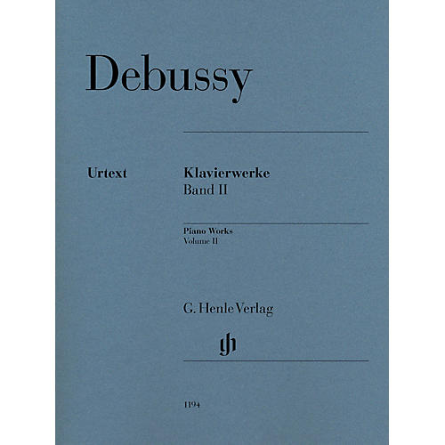 G. Henle Verlag Piano Works Henle Music Folios Softcover Composed by Claude Debussy Edited by Ernst-Günter Heinemann