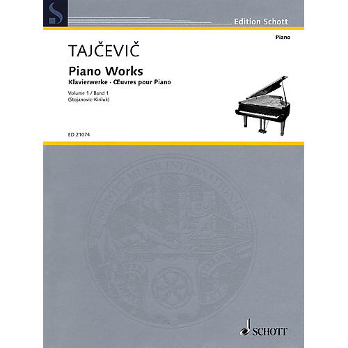 Schott Piano Works, Vol. 1 Schott Softcover Composed by Marko Tajcevic Edited by Radmila Stojanovic-Kiriluk