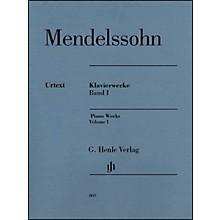 G. Henle Verlag Piano Works Volume I By Mendelssohn