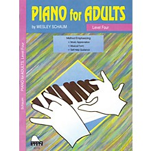 SCHAUM Piano for Adults (Level 4 Inter Level) Educational Piano Book by Wesley Schaum