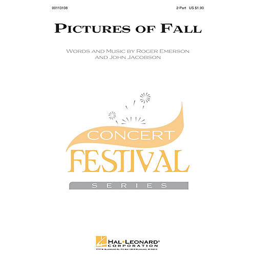 Hal Leonard Pictures of Fall 2-Part composed by Roger Emerson
