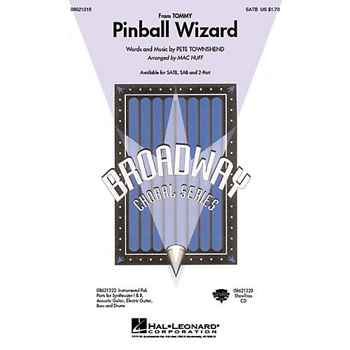 Hal Leonard Pinball Wizard (from Tommy) 2-Part by Who Arranged by Mac Huff
